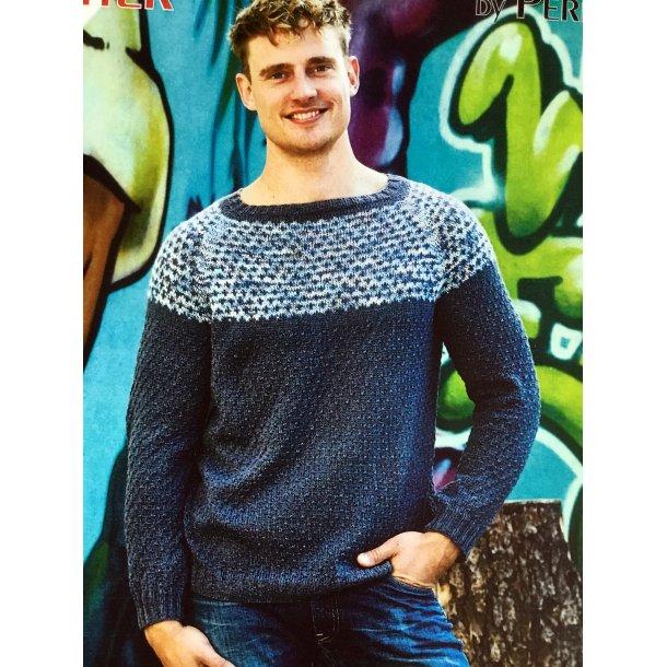 Herre sweater med struktur mønster.