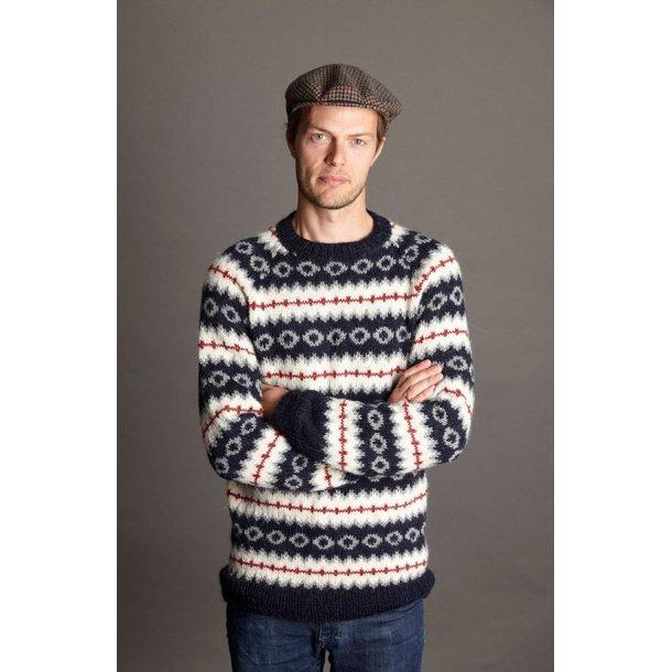 Herresweater med mønster.