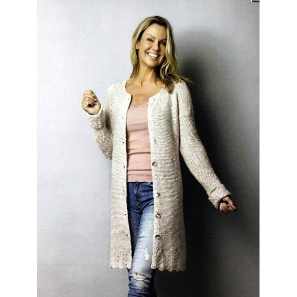 Rille jakke i Miranda med bølgekant.